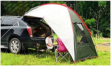 for Outdoor Family Beach Backyard Traveling Tailgating Waterproof Windproof Pop Up Canopy Car Awning Canopy Sun Shelter Camping Tent for SUV Minivan Truck Trailer