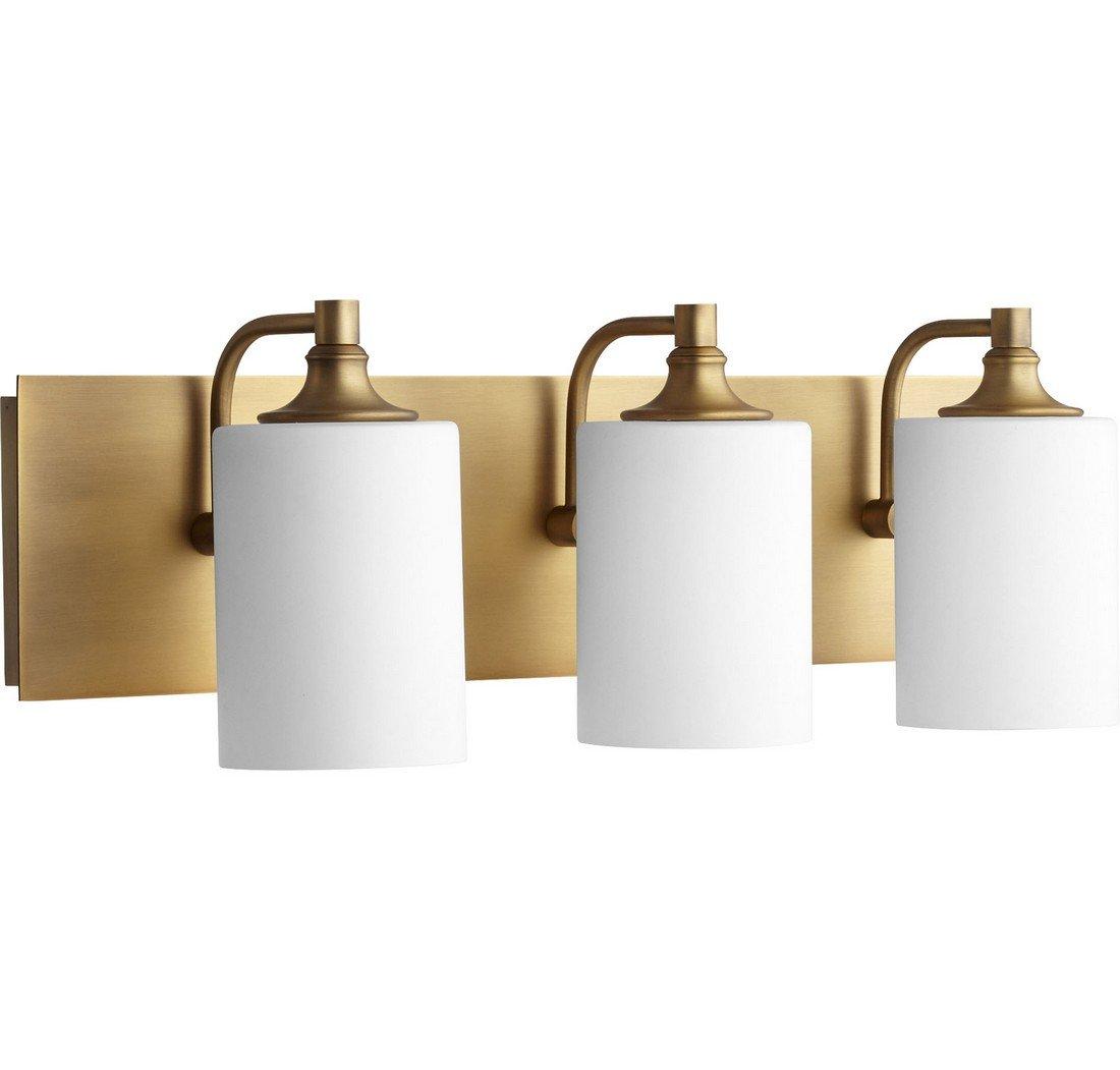 Quorum 5009-3-80 Celeste 24.5'' 3-Light Bath Vanity in Aged Brass by Quorum