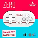 8Bitdo ZERO Smallest Wireless GamePad Mini Bluetooth Game Controller for Android/ iOS/ Windows/Mac OS (Red)