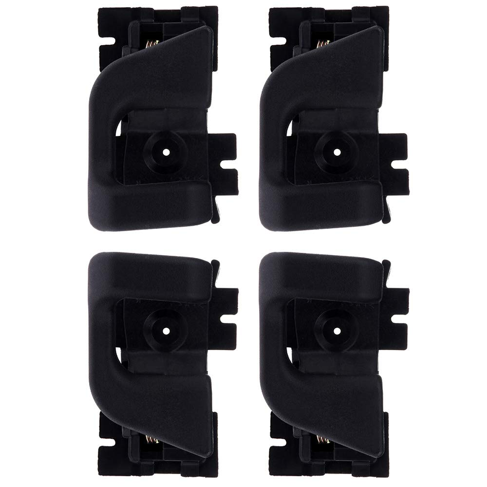 CCIYU Door Handles Interior Front Rear Driver Passenger Side Replacement for 1989-1990 Ford Bronco II Black(4pcs)