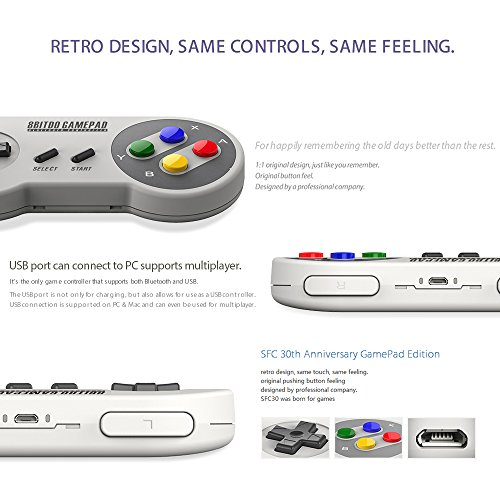 8bitdo SF30 Wireless Bluetooth Controller Dual Joystick Classic