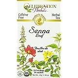 CELEBRATION HERBALS Senna Leaf Tea Organic 24 Bag, 0.02 Pound