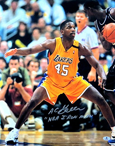 A.C. Green Signed Autographed 16X20 Photo Lakers