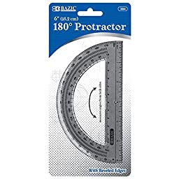 Bazic 304-24 Semicircular 6 in. Protractor- Pack of 24