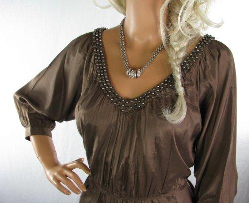Apurement à manches courtes pour femme Tunique ornée de perles