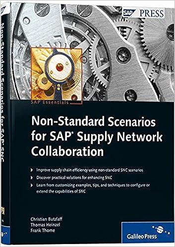 Non-Standard Scenarions For SAP Supply Network Collaboration