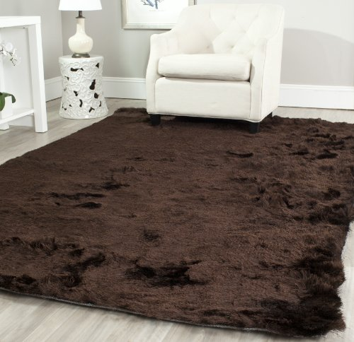 Safavieh Paris Shag Collection SG511-2727 Chocolate Polyester Area Rug (8' x 10')