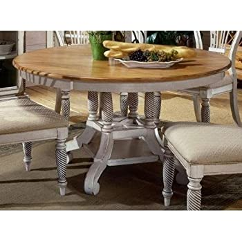 hillsdale furniture 4508dtbrnd wilshire round oval dining table