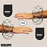 Flow Ring Kinetic 3D Spring Toy Sculpture Ring Game Toy For Kids Boys And Girl … (Silver, 2 Pack)