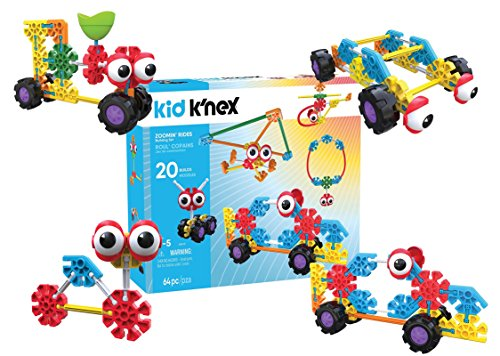 K'NEX Kid Zoomin Rides & up Preschool Educational Building Set (Pieces 65) - Kid Knex Building