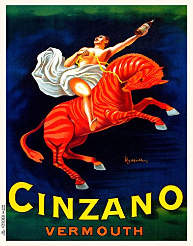 11x14decoration-postercinzano-vermouthwinered-horseart-nouveau8809