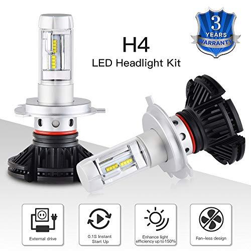 AjaxStore - H4 ATV LED Headlight Bulb For Polaris Snowmobile 340 Classic LX Touring Transport 440 500 550 600 Trail RMK Dragon IQ