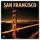 San Francisco 2018 12 x 12 Inch Monthly Square Wall Calendar with Foil Stamped Cover, USA United States of America California Pacific West Coast City (Multilingual Edition)