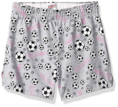 Soffe Girls' Big Authentic Cheer Short, Soccer Print Large