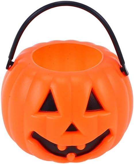 Seau Halloween est Petit et Mignon Parfait pour Les Enfants Orange Kulannder Seau de Citrouille 12 Pcs Seaux de Bonbon Halloween sont Utilis/és pour la D/écoration dhalloween