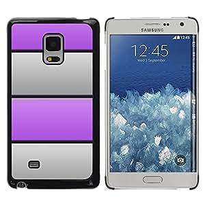FECELL CITY // Duro Aluminio Pegatina PC Caso decorativo Funda Carcasa de Protección para Samsung Galaxy Mega 5.8 9150 9152 // Grey Metal Stripes Horizontal