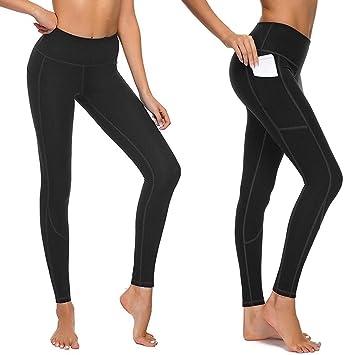 Amazon.com: Leggings para mujer con cintura alta y bolsillos ...