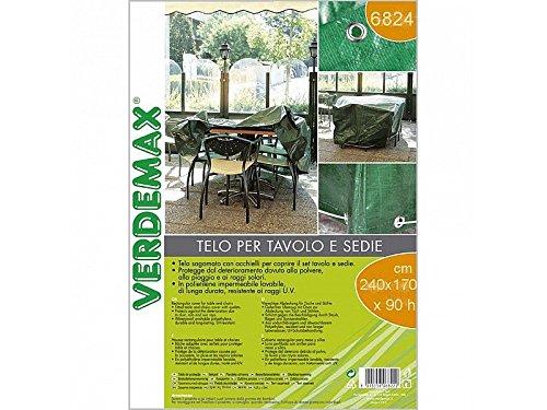 VERDEMAX 6824240x 170x 90cm rettangolare, per tavolo e sedie