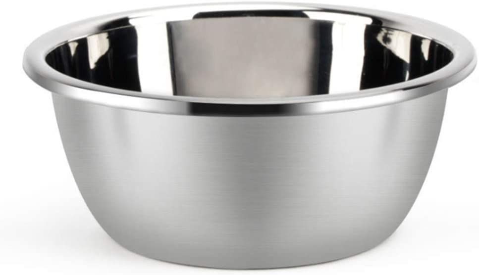 "Metal Bowl,Stainless Steel Metal Basin,Deep Heavy Duty Metal Salad Bowl By Erya (7.87"" diameter x 3.78""H)"