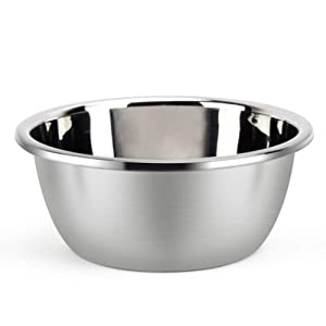 """Metal Bowl,Stainless Steel Metal Basin,Deep Heavy Duty Metal Salad Bowl By Erya (11.8"""" diameter x 4.75""""H)"""