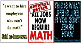 Poster #S2 Set of Motivational Math Posters for Math Classrooms Effectively Motivate Students