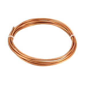 "uxcell Refrigeration Tubing, 3/32"" OD x 3/64"" ID x 6.5 Ft Soft Coil Copper Tubing"