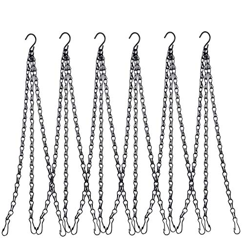 - Hanging Chain, HEAVY DUTY 24 Inch Hanging Flower Basket Galvanized Replacement Chain -3 Point Garden Plant Hanger for outdoor or indoor