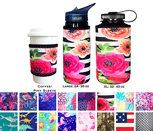 Chic Bottle - Koverz Neoprene 24-30 oz Water Bottle Insulator Cooler Coolie - Tres Chic