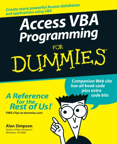 Access VBA Programming For Dummies by Brand: For Dummies