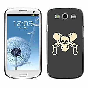 Shell-Star ( Cool Funny Skull Guns ) Snap On Hard Protective Case For Samsung Galaxy S3 III / i9300 i717