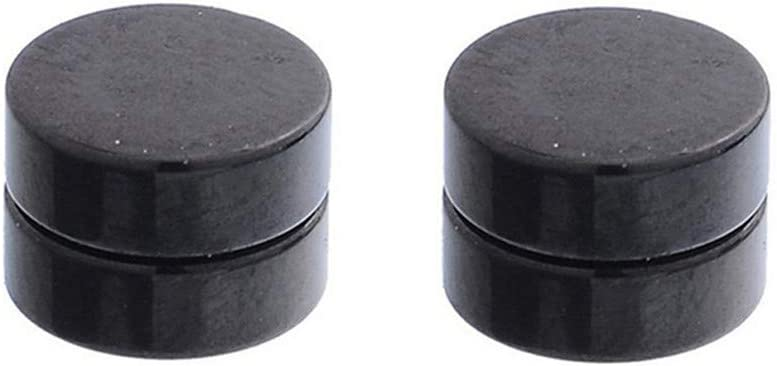 Cngstar Men Women Stainless Steel Circle Magnetic Earrings Stud No Piercing Punk Style Earrings,6mm