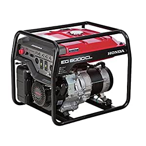 Honda 5000-Watt Gasoline Generator with GX390 OHV Commercial Engine and Oil Alert