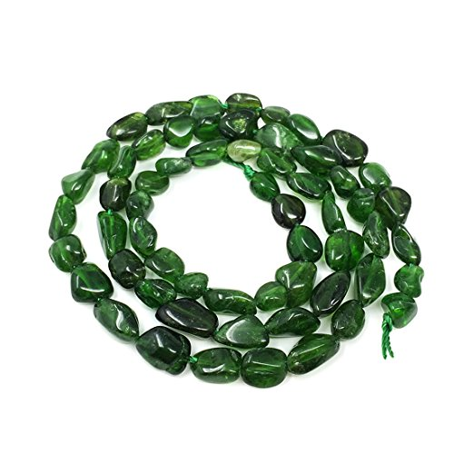 Top Quality Natural Diopside Gemstone Center Drilled Oval Rice Stone Beads 16