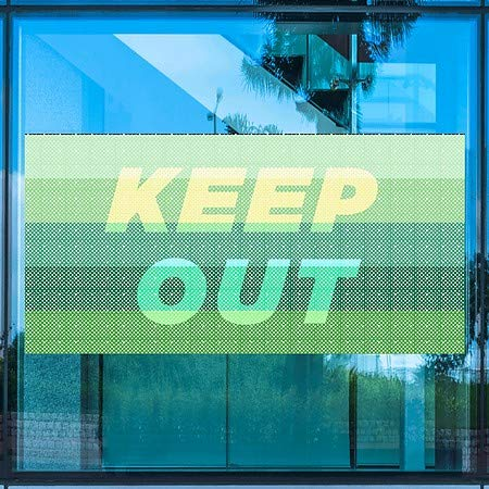 Keep Out Modern Gradient Perforated Window Decal 5-Pack CGSignLab 96x48