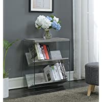 Convenience Concepts SoHo Bookcase, Faux Birch / Glass
