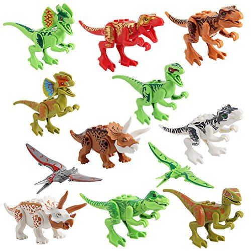 12Pcs A Pack Simulated Dinosaur Model Iusun Kids Children Educational Toy Gift (B) (Kids Model Furnitures)