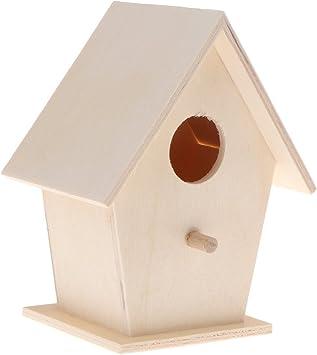 windyday Vogelh/äuschen Vogelhaus Nistkasten mit Balkon Stabiles Holz aus Echtholz zum Aufh/ängen f/ür Garten und Balkon