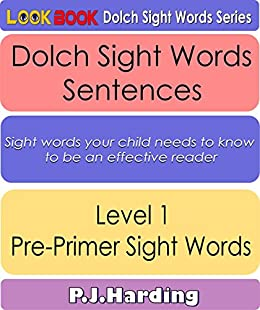 dolch sight words sentences level 1 pre primer look book dolch sight