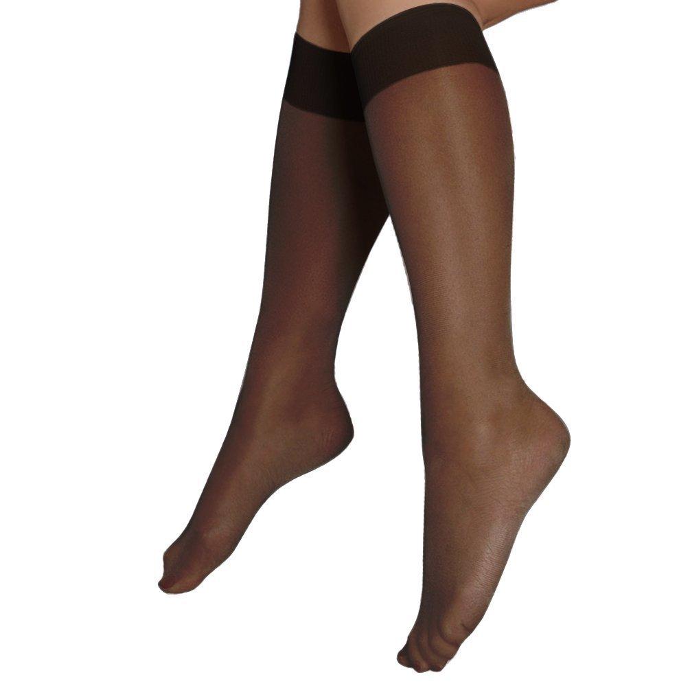 Berkshire Women's Plus-Size Queen Silky Sheer Knee Highs - Sandalfoot 6480