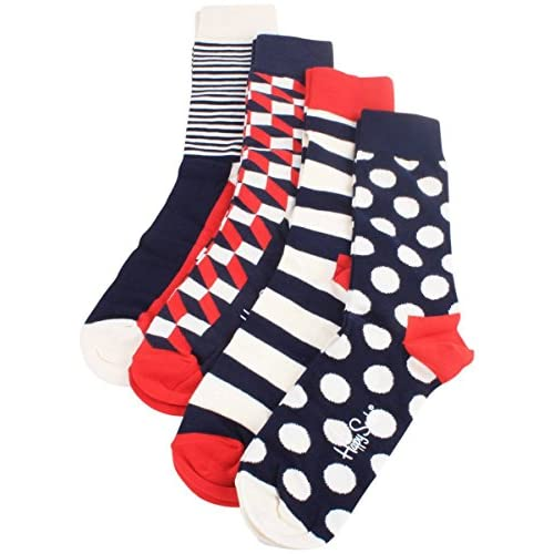 Nice Cream/Red/Blue Big Dot Socks Gift Pack by Happy Socks free shipping