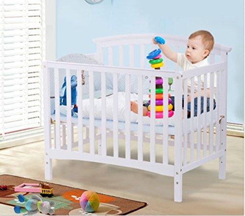 Hardwood Drop Side Crib (Baby Crib Toddler Nursery Infant Newborn Convertible Pine Wood Bed)
