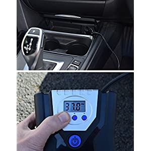 P.I. Auto Store - Premium 12V DC Tire Air Compressor Pump, Portable Digital Automatic Tire Inflator. With Carry Case
