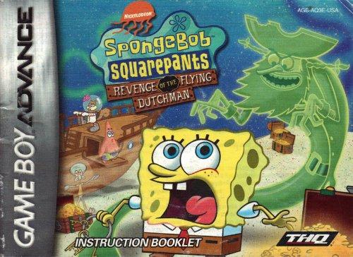 Spongebob Squarepants - Revenge of the Flying Dutchman GBA Instruction Booklet (Game Boy Advance Manual Only) (Nintendo Game Boy Advance Manual)