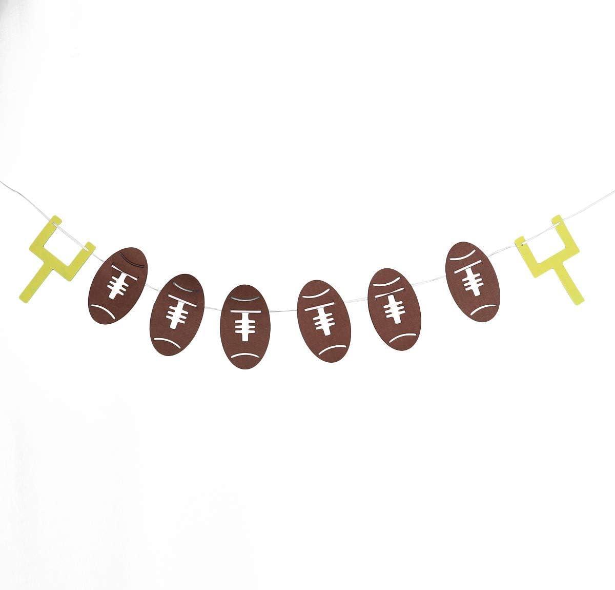 BinaryABC - Pancarta de rugby, diseño de balón de fútbol: Amazon ...