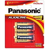 Panasonic Battery Alkaline LR14T/2B C-Size LR14 Battery - Pack of 2 (Multicolor)