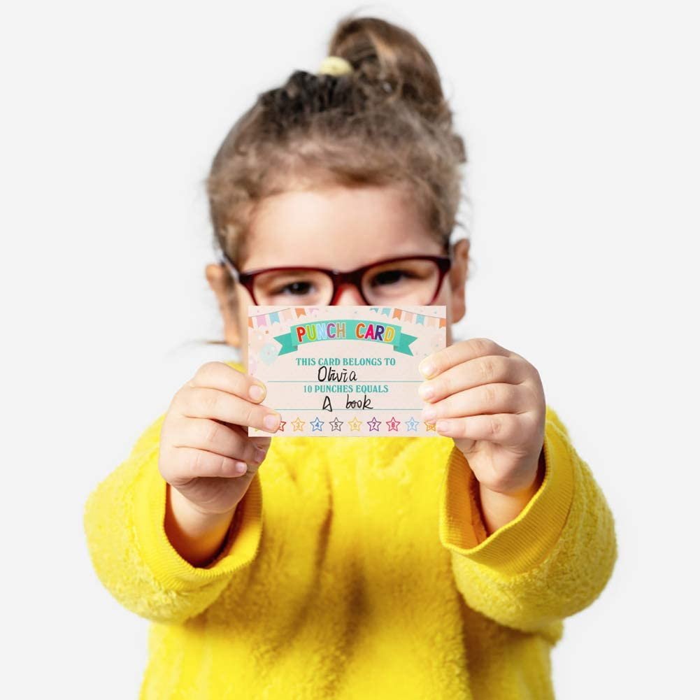 """WaaHome Pack of 60 Punch Cards Incentive Reward Award Cards for School Classroom Kids Students Teachers, 2.2""""x3.5"""" : Office Products"""