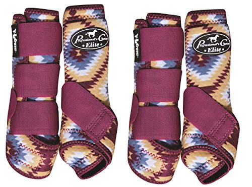 (Professional's Choice Ventech Elite Horse 4 Pack SMB Medicine Boots Aztec (Medium))