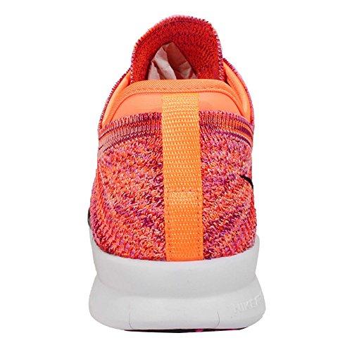 Los zapatos libres TR Flyknit FORMACIÃ?N, zapatillas de deporte (718785-801) MULTICOLOR-RADIANT EMERALD/BLACK-PINK POW