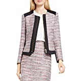 Vince Camuto Women's Front Zip Tweed Jacket, Ash Rose 14