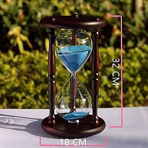 Botella de madera de 60 minutos de reloj de arena 18 cm